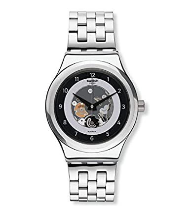 Amazon.com: Swatch Mens Analogue Automatic Watch with Stainless Steel Strap YIS416G: Watches
