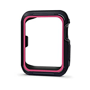 Threenine for Apple Watch Case 42mm, Shock-proof and Shatter-resistant Visual looks better Sport Case for Apple Watch Band Series 3 Series 2 Series 1 Sport, Edition(Case)42mm- Black Rose