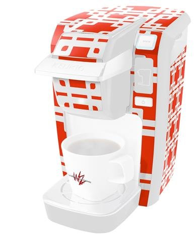 Boxedレッド – デカールスタイルビニールスキンKeurig k10 / k15 Mini Plusコーヒーメーカー( Keurigに含まれません   B0181DEEEK
