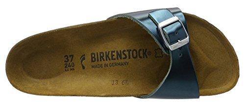 Birkenstock Madrid Leder - Mules Mujer Grün (Metallic Green)
