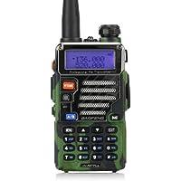 Baofeng UV-5R plus Qualette Talkie-Walkie VHF/UHF 2 m/70 cm Radio, camouflage