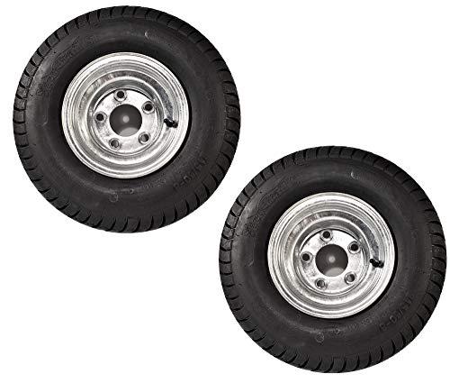 eCustomRim 2-Pack Trailer Tires On Galvanized Wheel Rims 18.5-8.5-8 215/60-8 Load C 5 Lug