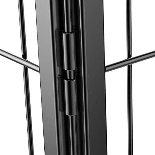 Yaheetech 6/8 Panneaux Parc Enclos pour Chiens Chiots Lapins Métal 80 x 80 cm Noir 8 Panneaux - 80x80cm