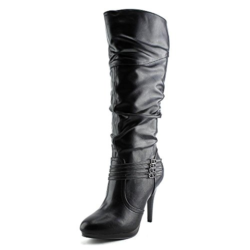 Style Calf High Boot (Style & Co Lindie Wide Calf Women US 8.5 Black Knee High)