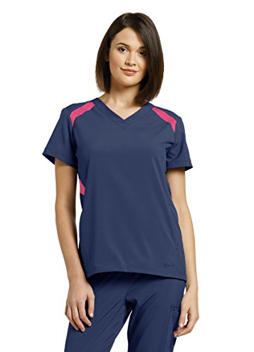 White Cross Fit Women's 746 V-Neck Mesh Accent Top (Navy, 2X-Large)