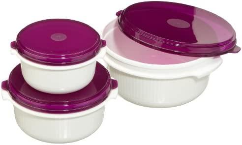 Emsa Micro Family Juego de recipientes para microondas, plástico, 6 unidades
