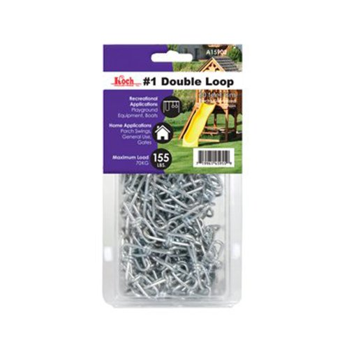 Koch A15922 2/0 by 20-Feet Double Loop Chain, Zinc Plated by Koch
