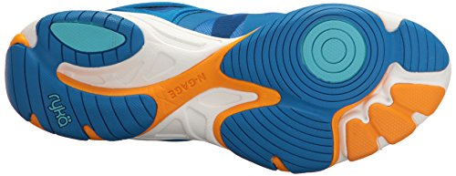 Ryka Women's Enhance 3 Cross-Trainer Shoe, Blue/Orange, 8.5 M US