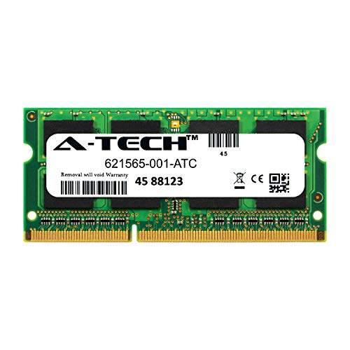 A-Tech 2GB Replacement for HP 621565-001 - DDR3 1333MHz PC3-10600 Non ECC SO-DIMM 1.5v - Single Laptop & Notebook Memory Ram Stick (621565-001-ATC)