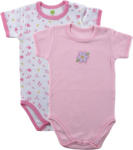 Hudson Baby Organic Bodysuit, 2-Pack, Pink, 0-3 months