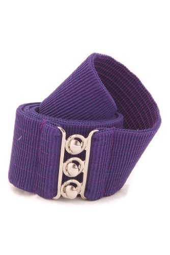 Malco Modes Women's Wide Elastic Cinch Stretch Belt - Small - (Ring Cinch Belt)