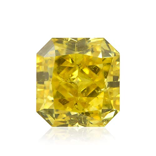 0.56Cts Fancy Vivid Yellow Loose Diamond Natural Color Radiant Cut GIA Certified