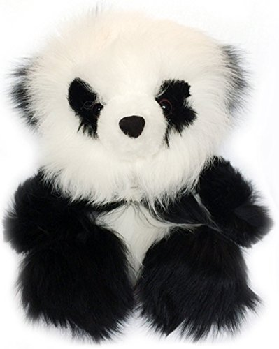 Sitting Panda Bear - Baby Alpaca Fur Sitting Panda Bear - 7 inches tall - Hand Made - Each Panda Is Unique