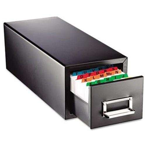 Steelmaster Drawer Card Cabinet Holds 1,500 5 X 8 Cards by MMF Industries