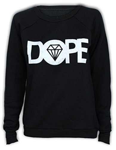 Fashion charming-womens DOPE Imprimir Fleece Sudadera con cuello redondo diamond: Amazon.es: Ropa y accesorios