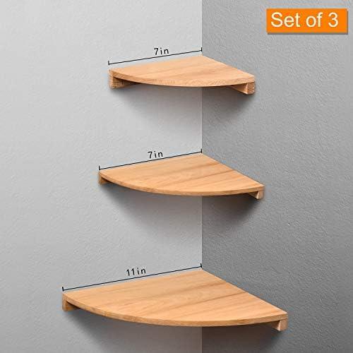 5 pcs Square Corner Shelf Wooden Walnut Shelves 18 MM