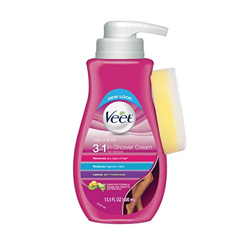 Veet In Shower Botanic Inspirations Legs and Body Hair Removal Cream, 13.5 Fluid Ounce