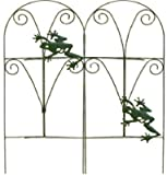 Panacea 89374 Folding Fence with Frogs, Green