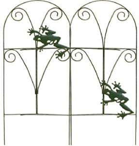 Panacea 89374plegable valla con ranas, color verde