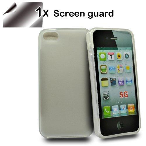 24/7 kaufhaus- weiß GEL silikon schutz Hülle case cover tasche Mit Displayschutzfolie Apple iphone 5