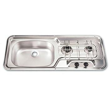 Amazon Com Dometic Mo0911cis0000us Cooktop 2 Burner Sink