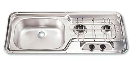 Dometic MO0911CIS0000US Cooktop 2 Burner Sink Combo