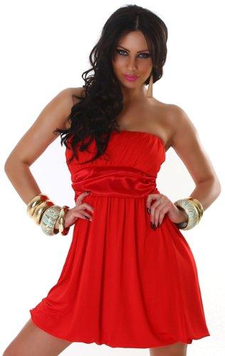 Jela London Mujer Bandeau de cóctel vestido einfarbig Talla Única (32–�?6) Rojo