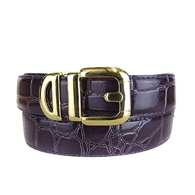 BLTBY-ALG-51 - Purple - Boys Alligator Skin Bonded Leather Belt