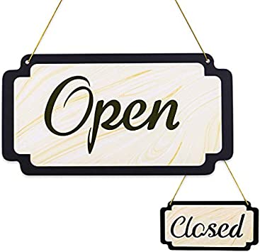 Rustic OpenClosed Sign  Business Open Sign  Reversible Sign  Open Sign  Closed Sign  Office Decor  Business Decor  Rustic Open