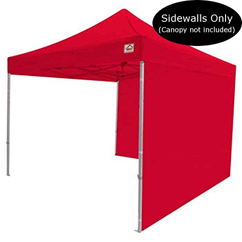 Impact Canopy 10 x 10 Canopy 2 Sidewalls, Outdoor Gazebo Canopy Replacement Walls Only, Red