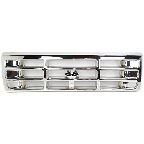 Grille Bronco Ford Assembly 96 (Evan-Fischer EVA17772015687 Grille for Ford F-Series 92-97 Plastic Chrome)