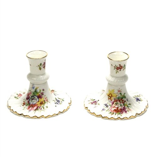 (Minuet by Hammersley, China Candlestick Pair)