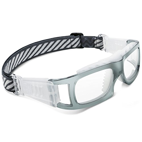 d18f8b351216 PONOSOON Sports Goggles for Basketball Football Volleyball Hockey Paintball  Lacrosse1819 (Transparent Gray)