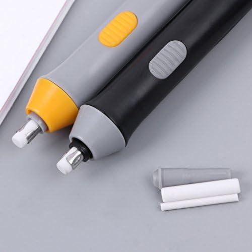 Siwetg cancellino a batterie per disegno di bozze Cancellino con gomma elettrico accessorio scolastico Grigio