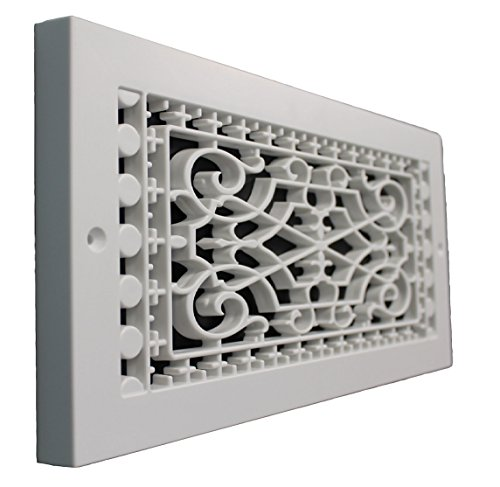 - SMI Ventilation Products VBB614 Cold Air Return - 6 in x 14 in Victorian Style Base Board - Overall Dimensions 8 in x 16 in