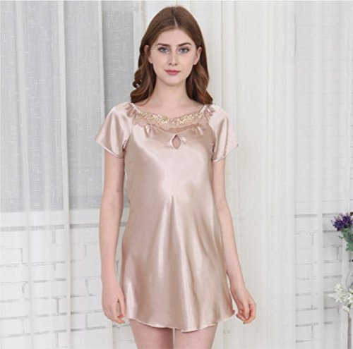 Amazon.com: LJ&L High - quality spinning silk pajamas summer silk ...