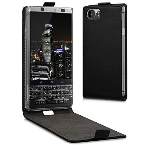 kwmobile Vertical Flip Case for BlackBerry KEYone (Key1) - PU Leather Protective Flip Cover with Magnet - -
