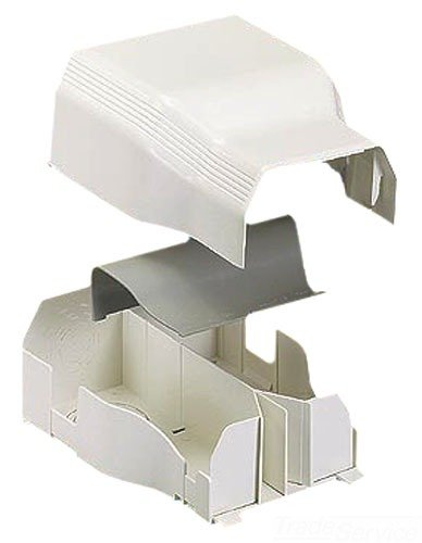 Panduit TGEEIW Power Rated Raceway Entrance End Fitting, Off White