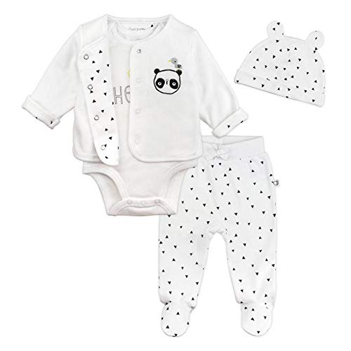 Baby Boy or Baby Girl Newborn Layette Set with Cap, Pants, Bodysuit & Cardigan ()