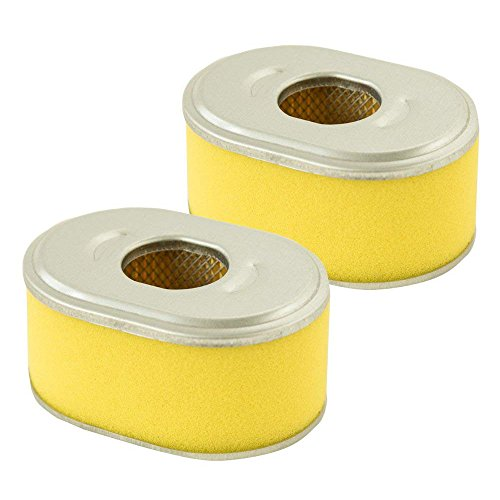 HEYZLASS 2 Pack 17210-ZE0-505 Air Filter, Replace for Honda GX110 GX120 Engine OEM Air Cleaner and More, Plus Pre Filter