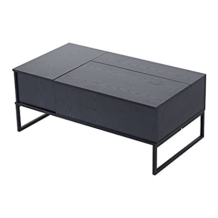 Amazoncom Homcom 43 Modern Lift Top Coffee Table With Hidden