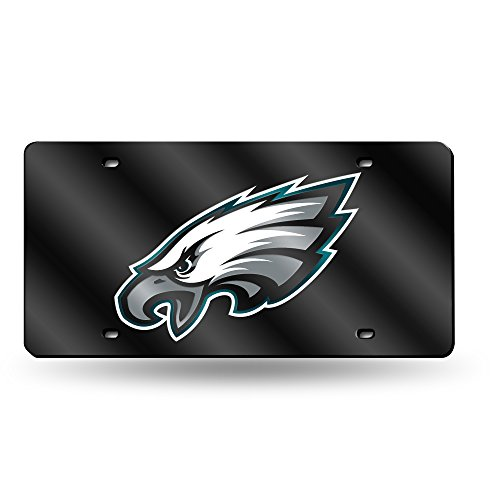NFL Philadelphia Eagles Laser Inlaid Metal License Plate Tag ()