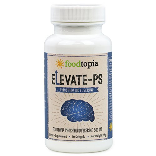 Premium Brain Memory Booster Nootropic Propriety Korea Blend of Elevate-PS Phosphatidylserine Complex (30 Gel Caps Supplement) for Cognitive function boost. Increase Focus, Clarity, and Mind. by Foodtopia