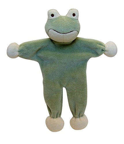 Simply Fido Stuffless Frog Toy, Green, 9″