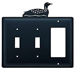 Village Wrought Iron Essg-116 Switch Cover Triple - Loon