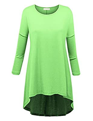 MBJ Womens Oversized High Low Tunic - Made in USA