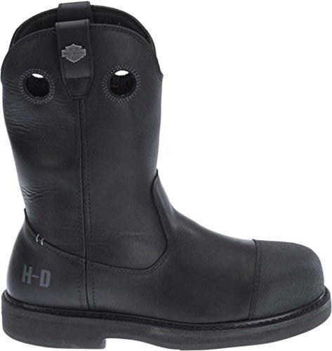 Wolverine Motorcycle Boots - Harley-Davidson Men's Manton Waterproof Motorcycle Boots D93389 (Black, 11)