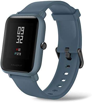 Huami Amazfit Bip Lite 20日間のバッテリー寿命、24/7 心拍数とアクティリティ トラッキング 1.3インチ AMOLED タッチスクリーン IP68 ブルー