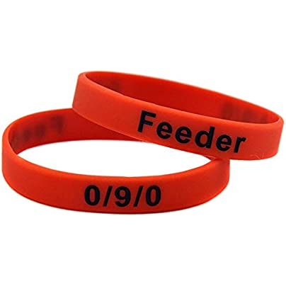 Sxuefang Silicone Bracelets With Sayings Afk Noob Feeder Rubber Wristbands For Kids Motivation For Friends Set Pieces Estimated Price £29.99 -