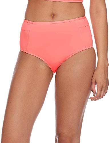 (Eidon Junior's Hailey High Rise Bikini Bottom Swimsuit, Flavors Blush,)